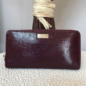 KATE SPADE Laurel Way Neda Full Zip Leather Wallet